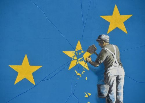 BANKSY - BREXIT - closer canvas print - self adhesive poster - photo print